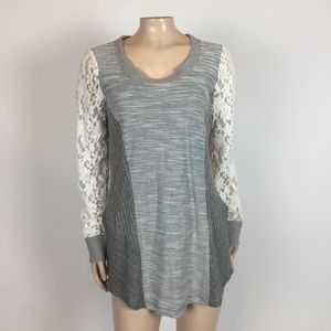 NEW Saturday Sunday Lace Long Sleeve Top Knit DD18